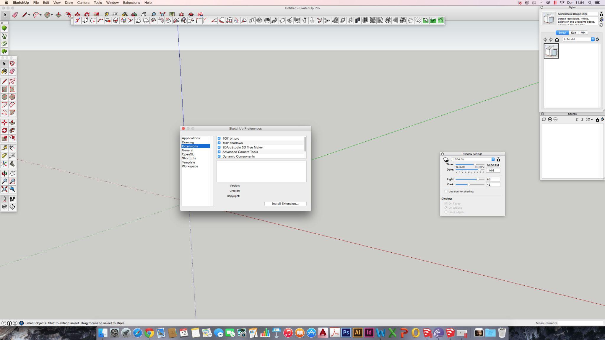 Tree Maker: un plugin per alberi poligonali in SketchUp
