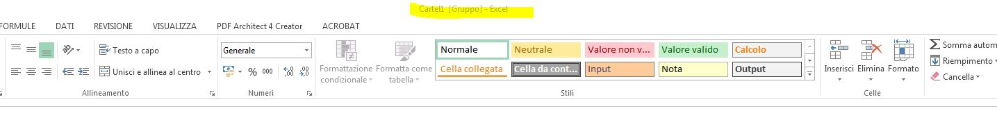 stampa excel